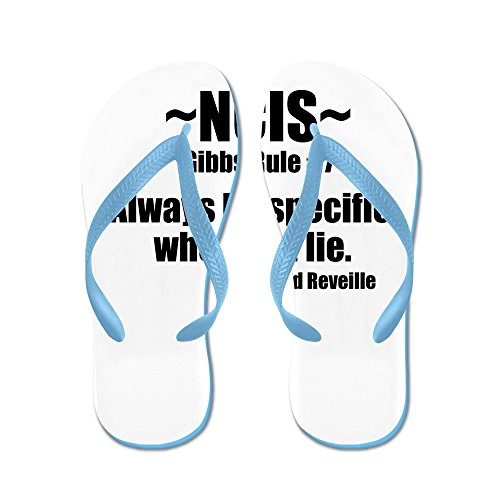 Cafepress Gibbs Regel # 7 - Flip Flops, Roliga Rem Sandaler, Strand Sandaler Caribbean Blue