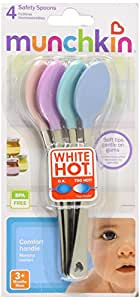 Munchkin White Hot Safety Spoons 4 Ct