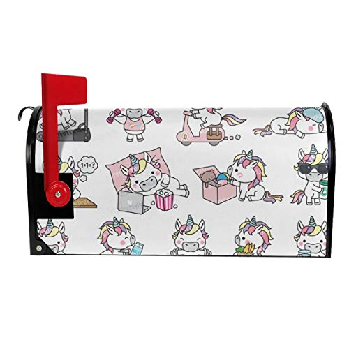 Candy Ran Mail Cover Kawaii Pig Magnetic Mailbox Cover Letter Post Box Decoration Welcome Home 25.5x21 in