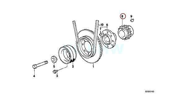 Genuine BMW E30 E36 Z3 Cabrio Compact Crank Timing Sprocket OEM 11211247338