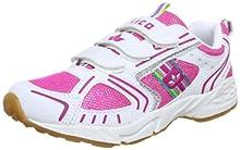 Lico Silverstar V, Zapatillas de Deporte Interior para Niñas, Blanco (Weiß/Pink/Silver Weiß/Pink/Silver), 31 EU