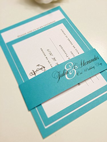 Handmade Wedding Invitation, Nautical Invitations, Blue invitations, Wedding invites, Modern invites