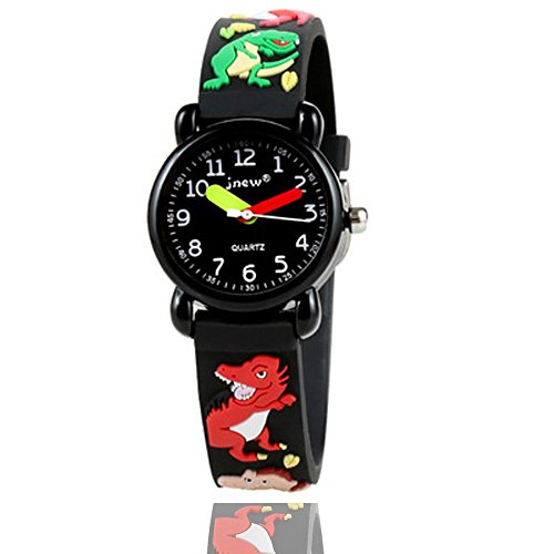 - Bingostyle Kids Watches,3D Waterproof Cartoon Children Strap Watch Time Teacher Gifts for Boys Girls by (05-Black-Dragon)