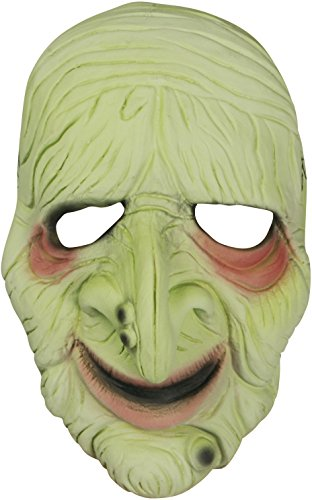 Loftus International Star Power Old Man Glow in The Dark Half Mask, Light Green, One Size Novelty Item]()