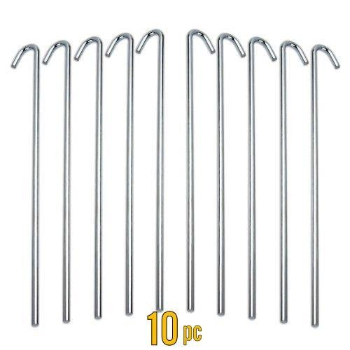 ALAZCO Galvanized Steel Tent Pegs - Garden Stakes -Heavy Duty - Rust Free  sc 1 st  Amazon.com : coleman tent pegs - memphite.com