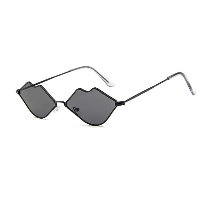Amazon.com: Gafas de sol sexy con labios calientes, gafas de ...