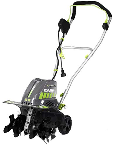 Earthwise TC70016 16-Inch 13.5 Amp Corded Electric Tiller/Cultivator, Grey (Renewed)