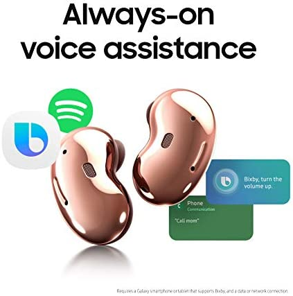 Samsung Electronics Galaxy Buds Live, True Wireless Earbuds w/Active Noise Cancelling (Wireless Charging Case Included), Mystic Red (US Version)