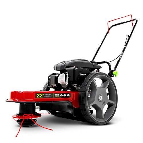 EARTHQUAKE 28463 M205 150cc 4-Cycle Viper Engine, 5 Year Warranty Walk Behind String Mower, Red/Black
