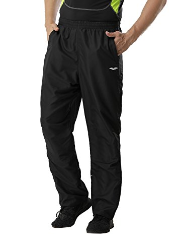 Classic Track Pant - MIERSPORTS Men's Sports Pants Warm-Up Pants with Zipper Pockets for Workout, Gym, Running, Training, Black, M