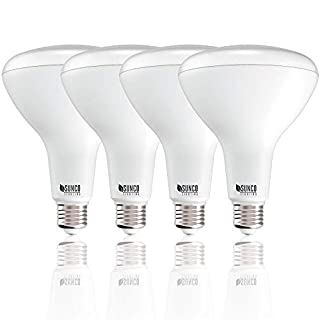 Sunco Lighting 4 Pack BR40 LED Bulb, 17W=100W, Dimmable, 6000K Daylight Deluxe, E26 base, Indoor Flood Light for Cans - UL