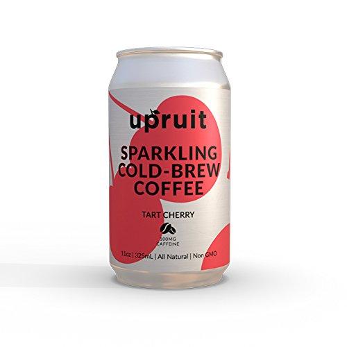 Upruit Sparkling Cold Brew Coffee | Tart Cherry | Non GMO | Gluten & Dairy Free | 11oz | 8 Pack
