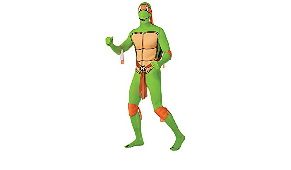 Disfraz De Tortuga Ninja 2ª Piel (Michelangelo) - Large ...