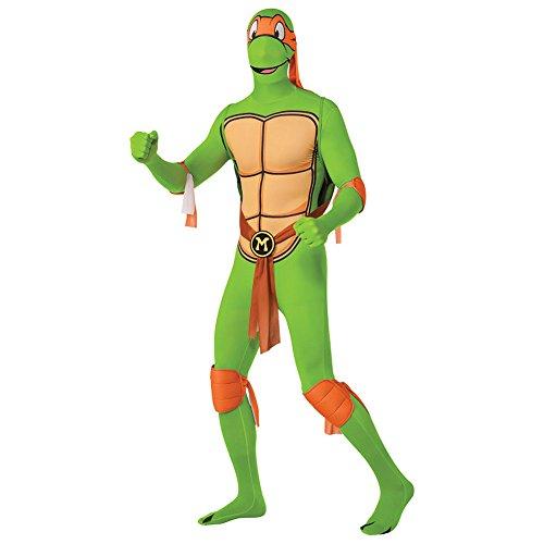 Rubies 2nd Skin Teenage Mutant Ninja Turtle Costume (Michelangelo) - Medium