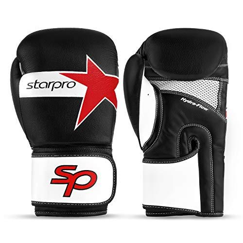 Style Bag Gloves - Boxing Gloves, Kickboxing Bagwork Sparring Performer Training Gloves, Muay Thai Style Punching Bag Mitts, Fight Gloves Men & Women (Black/White, 12oz)