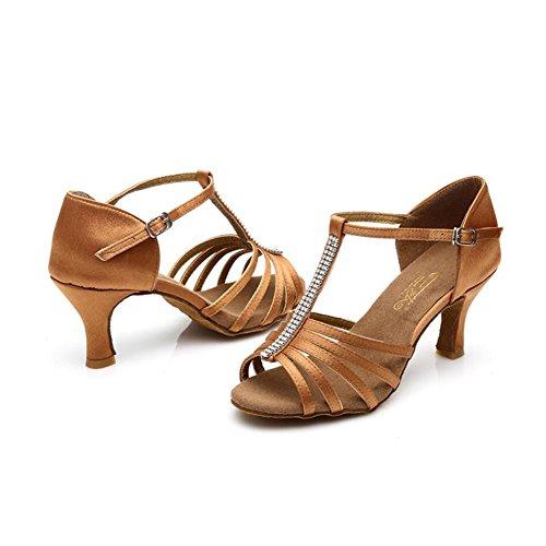 Ein 39 Damen Sandale Größe Tie XUE Band amp; Praxis Farbe Schuhe B Sneaker Latin Ballroom Seide schwarz Schnalle Performance Schuhe Heel Party Abend BwqwAS1