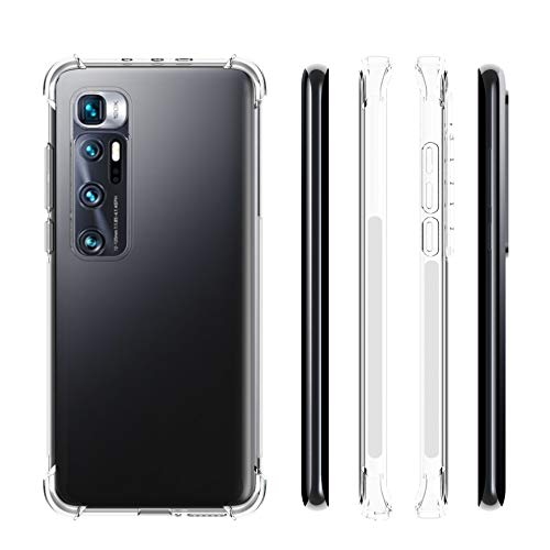 EasyLifeGo for Xiaomi Mi 10 Ultra Case [NOT FIT Mi 10] Slim Shock Absorption Flexible TPU Soft Edge Bumper with Reinforced Corners Transparent Protective Cover