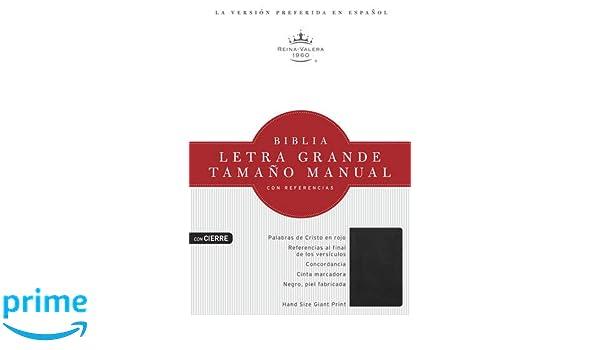 Rvr 1960 Biblia Letra Grande Tamaño Manual, Negro Piel Fabricada ...