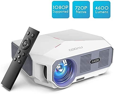 Amazon.com: Proyector, COOAU Proyector de Película 4600LM ...