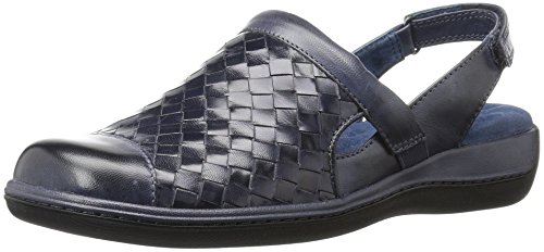 SoftWalk Women's Salina Woven Mule, Navy Denim_414, 12.0 M US