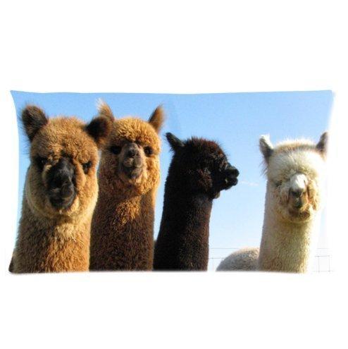 Custom Unique Design cute alpaca / cute llama Rectangle 20x36 inch Two Sides Facial/Skin Care Pillowcase Pillow Covers