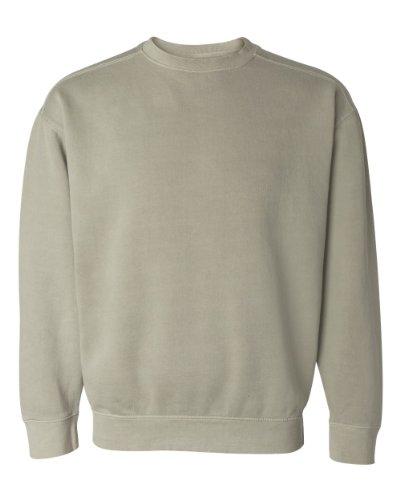 (Comfort Colors Pigment-Dyed Crewneck Sweatshirt, L, Sandstone)