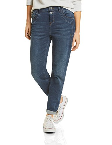 Street One Jean Slim Femme Bleu (Mid Blue Random Bleach Wash 11132)