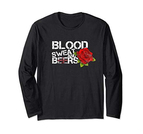 Blood Sweat Beers Long Sleeve England Flag Rugby Six Nations
