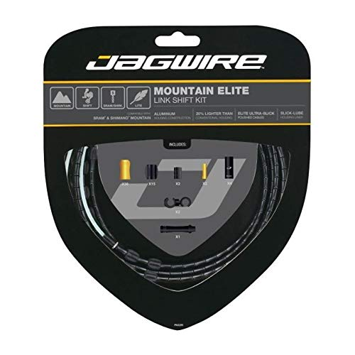 Jagwire Mountain Elite Link Shift Cable Kit Black, One Size