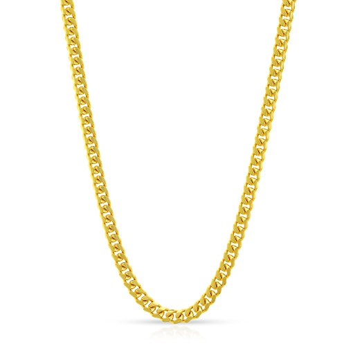 """14k Yellow Gold 2.5mm Solid Miami Cuban Curb Link Necklace Chain 16"""" - 30"""" (18)"""