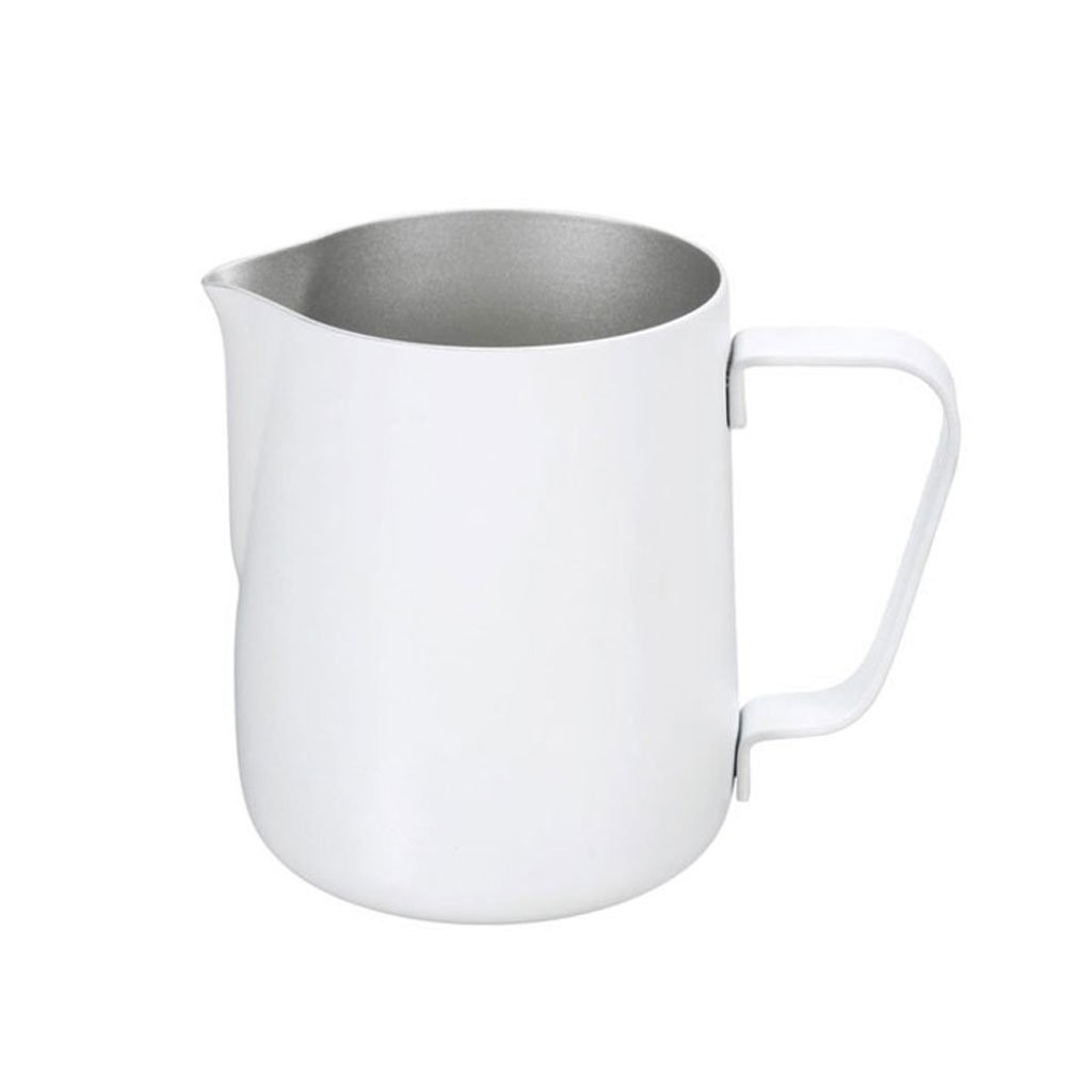 LOVIVER 350ML Thick Stainless Steel Coffee Frothing Milk Latte Art Jug Pitcher White by LOVIVER