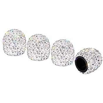 4pcs Crystal Car Tire Valve Caps Diamond Shining Car Accessories For Women Bling Car Charms Atv,rv,boat & Other Vehicle Electric Vehicle Parts