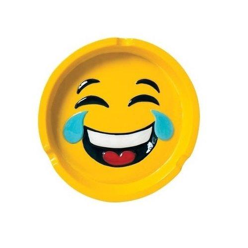 Smiley Face Crying Emoji Design Polyresin Ashtray
