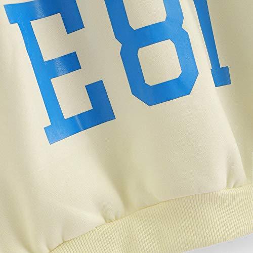 Camicetta Cappuccio Bianco Coulisse Pullover Maniche Liquidazione Camicette Lunghe Casual Lettera Elegante Shirt Donne Stampa con Tops T di Vendita delle Tops qzt110