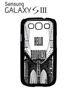 Hello Brooklyn New York Mobile Cell Phone Case Samsung Galaxy S3 White