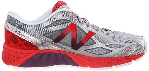 New Balance de las mujeres w870V4Running Shoe blanco y rojo