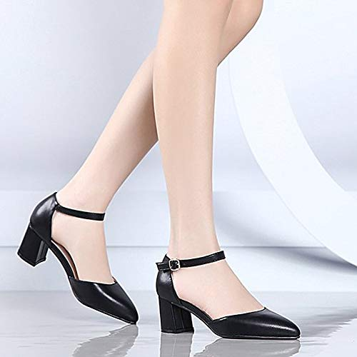 PU Low Polyurethane D'Orsay Heels Black amp; Summer Beige Two Toe ZHZNVX Piece Beige Shoes Pointed Women's Heel 1qvAEA