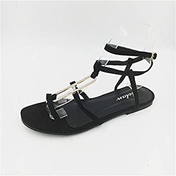 64f7cb43a9d73 Angrousobiu Summer water drill flat bottom sandals clip and the wind catch beach  sandals female summer