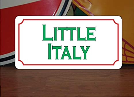 Amazon Com Little Italy 6 X12 Metal Sign For Italian