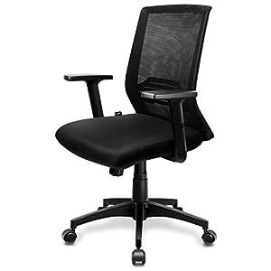 INTEY Chaise de Bureau, Fauteuil Ergonomique avec Accoudoir et Hauteur Réglable, Dossier Inclinable Soutien Lombaire…