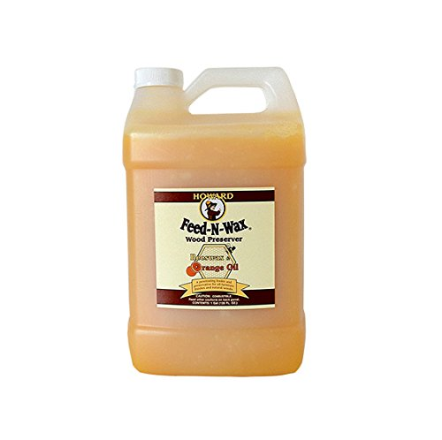 Howard Feed-N-Wax Wood Polish and Conditioner and Preserver 128oz 1Gallon, Polish Wood Floors, Wood Restorer, Antique Furniture Restoration ()