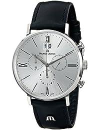 Men's EL1088-SS001-110 Eliros Analog Display Analog Quartz Black Watch