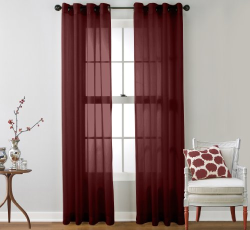 HLC ME Window Curtain Grommet Burgundy product image