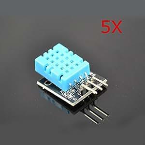 Yongse 5pcs DHT11 KY-015 Temperatura del módulo del sensor de humedad para Arduino