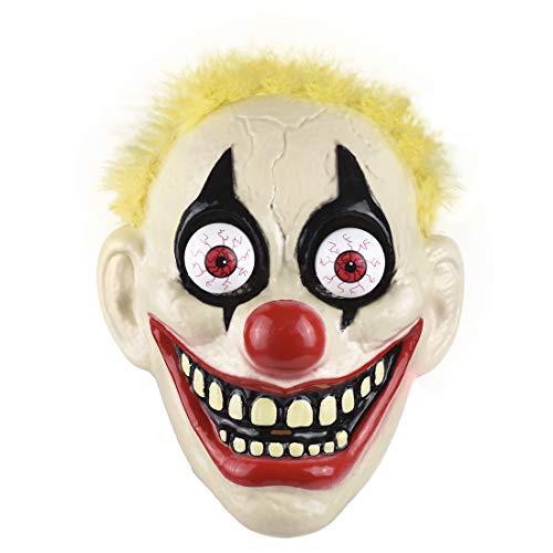 Halloween Party Nightclub (LED Light Up Clown Mask, 3 Modes Light Bouncing Eyeball for Halloween Mask Nightclubs Bars)