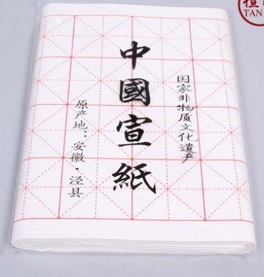 Confezione 100 fogli di carta di riso Xuan, per pratica calligrafia ...