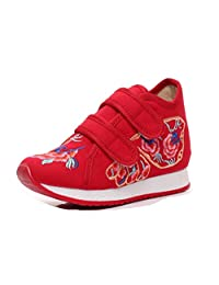 Tianrui Crown Girl's Bow Embroidery Casual Traveling Shoes Sneaker Kid's Cute Sport Canvas Shoe