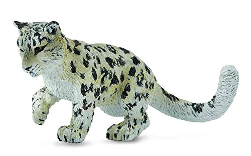 Snow Tiger (CollectA Wildlife Snow Leopard Cub - Playing Toy Figure - Authentic Hand Painted Model)