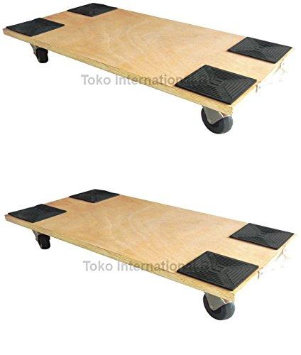 2 x transporte Roller 150 kg 590 x 290 mm resistencia PA de patinetes Muebles para
