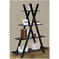 Our Criss Cross Bookshelf Has a Slanted Bookshelf Design. The Slant Bookshelf Is an Ideal Bookshelf to Use As a Skinny Bookshelf. A Staggered Bookshelf Is a Smart Leaning Bookshelf or Tree Bookshelf.